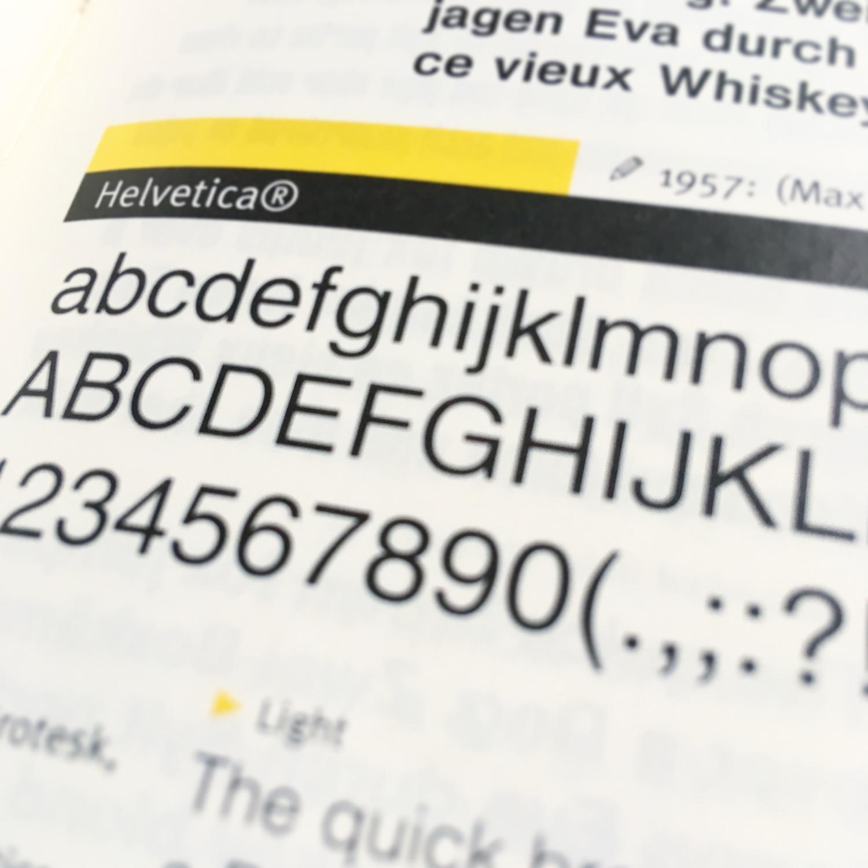 helvetica fontbook