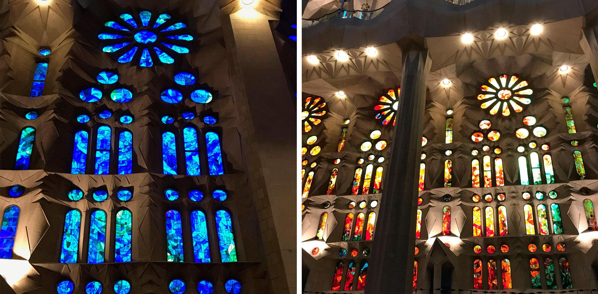 Vidrieras Sagrada Familia
