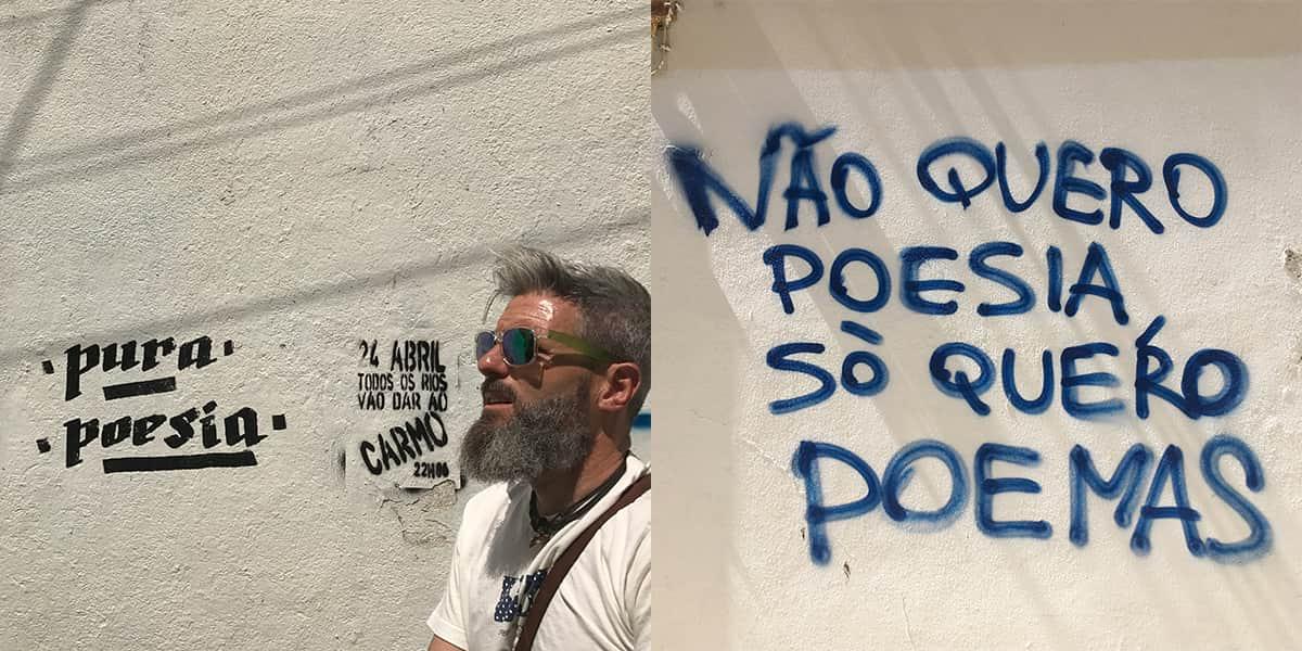 Poesía portuguesa y caligrafía