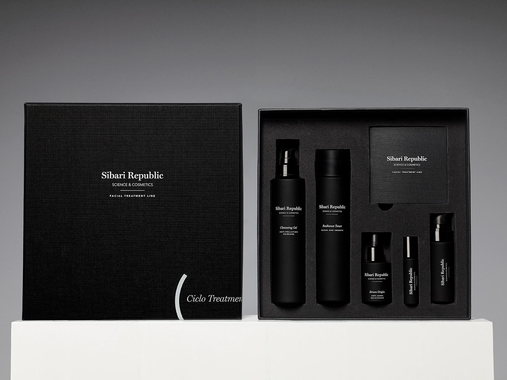 diseño de packaging gama de productos cosméticos