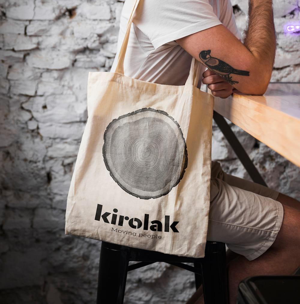 Ecodiseño bolsa tienda Kirolak
